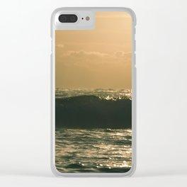 Atlantic Ocean Waves 4159 Clear iPhone Case