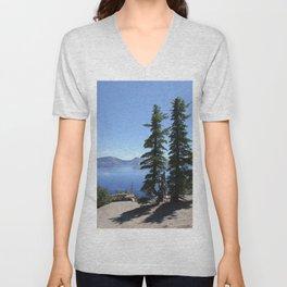 Scenic Crater Lake Unisex V-Neck