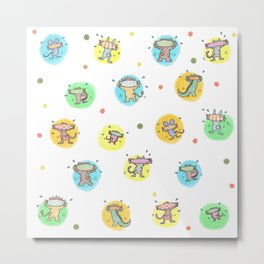 cute animals shaking butts after swimmig, summer is here yay! Metal Print