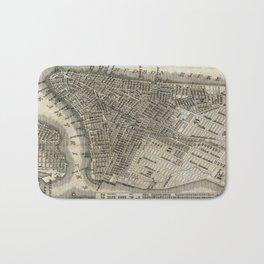 Vintage Map of New York City (1842) Bath Mat