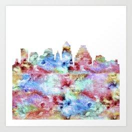 Austin Skyline Texas Art Print