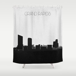 City Skylines: Grand Rapids Shower Curtain