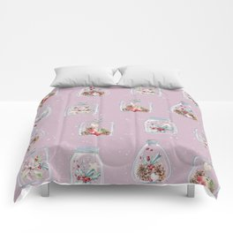 Christmas Pattern Pink Comforters