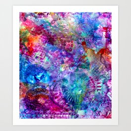 inky brights Art Print