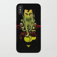 cthulu iPhone & iPod Cases featuring SuperCthulhu by 6amcrisis