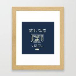 ISRAELI PASSPORT  Framed Art Print