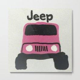 Pink Jeep Metal Print