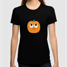 Pumpkin Emoji Rolling Eyes #society6 T-shirt