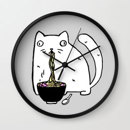 Rasabi Cat - Ramen Forever Wall Clock