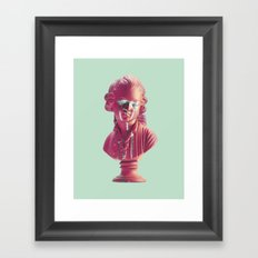 Bust Of A Weeping Man (In Pink and Mint) Framed Art Print