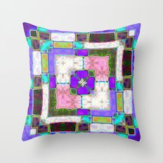 Glass Block Abstract Throw Pillow