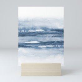 Indigo Clouds, Blue Abstract Art Mini Art Print