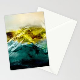 Abstract Mountain Stationery Cards