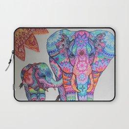 Mother & Baby Elephant Laptop Sleeve