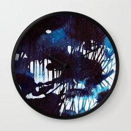 Abstract Blues Wall Clock