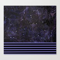 space and ocean geometry Canvas Print
