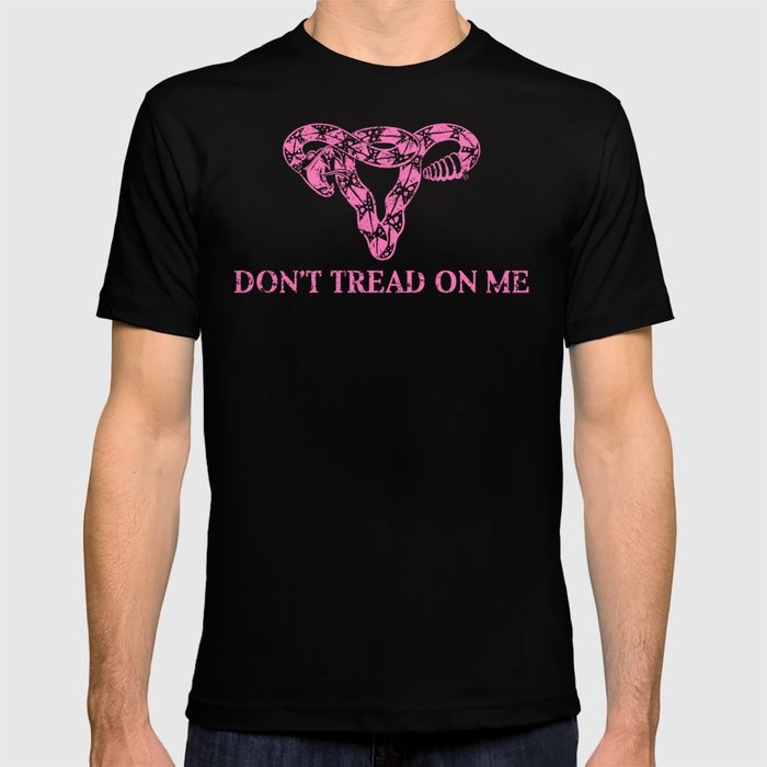 Don't Tread On Me pink T-Shirt