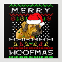 Tibetan Terrier Dog Merry Christmas Canvas Print