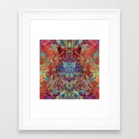 supreme Framed Art Prints featuring Supreme by GypsYonic