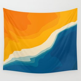 Seascape aerial view Wall Tapestry