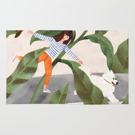 Going On A Walk Rug