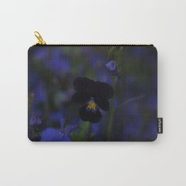 Black and Blue Flower Carry-All Pouch