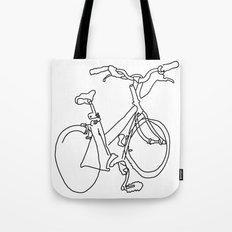 Blind Contour Bicycle Tote Bag