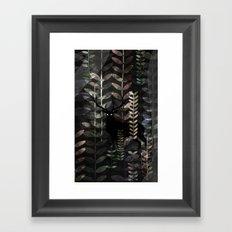 glass forest Framed Art Print