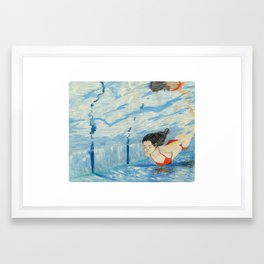 Apnea Framed Art Print
