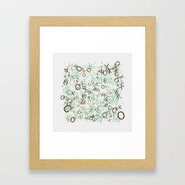 xoxoxo Framed Art Print