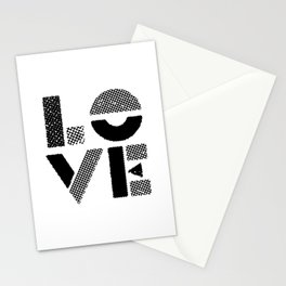 LOVE black-white contemporary minimalist vintage typography poster design home wall decor bedroom Stationery Cards