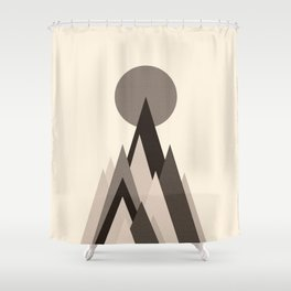 Mountain in the middle of the moon Shower Curtain