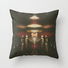 Particle Glow Throw Pillow