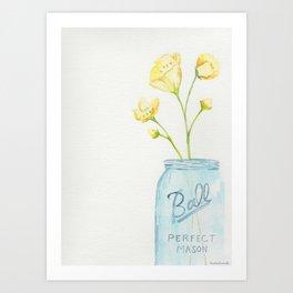 buttercups ~ watercolor Art Print