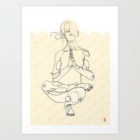 yoga Art Prints featuring Yoga by Timoismen
