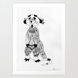 Malcolm the Maladjusted Meerkat Art Print