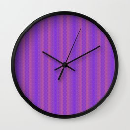 Extropix Creation Purple Pattern Wall Clock
