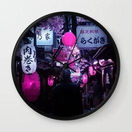 Tokyo Nights / Memory Lane / Liam Wong Wall Clock