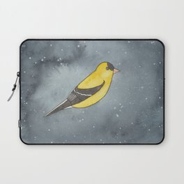 American Goldfinch - Solar Plexus Chakra - Watercolor Painting Laptop Sleeve