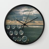 typo Wall Clocks featuring typo by Richard PJ Lambert
