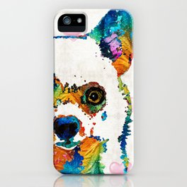 Colorful Chihuahua Art by Sharon Cummings iPhone Case