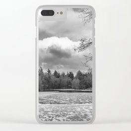 Frozen Lake Panorama Clear iPhone Case