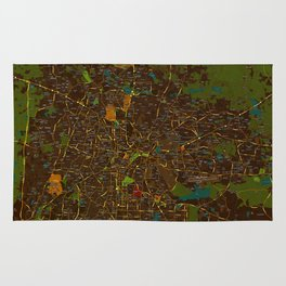 Bangalore old green map Rug