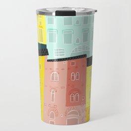 Rainbow cityscape Travel Mug