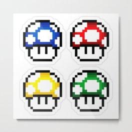 Mario Mushroom 1Up Metal Print