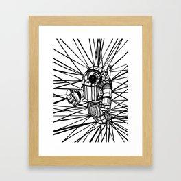 Robot black and white Framed Art Print