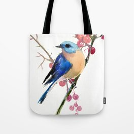 Bluebird and Berries Tote Bag