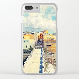 Trapani art 18 Sicily Clear iPhone Case