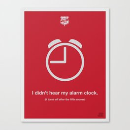 Alarm Clock Canvas Print