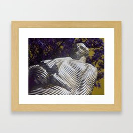 Working with purple Framed Art Print